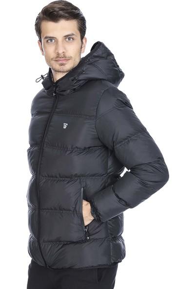 Sportive Erkek Siyah Kapüşonlu Outdoor Mont 710752-SYH