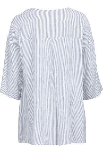 Bize Fashion 422 Kadın Bluz İndigo