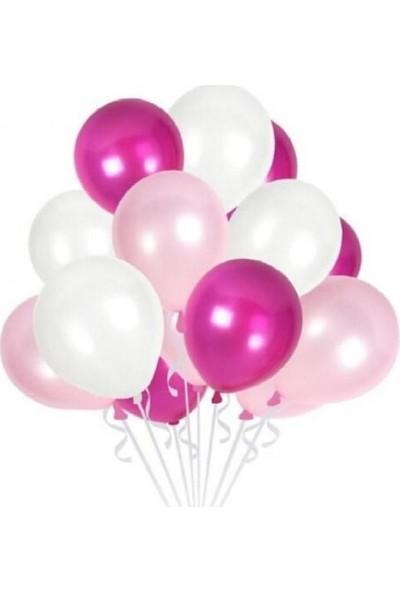 Kullan At Party Fuşya-Pembe-Beyaz Karışık Metalik Balon 30'lu