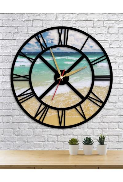 Homecept Sahil ve Deniz Temalı Duvar Saati