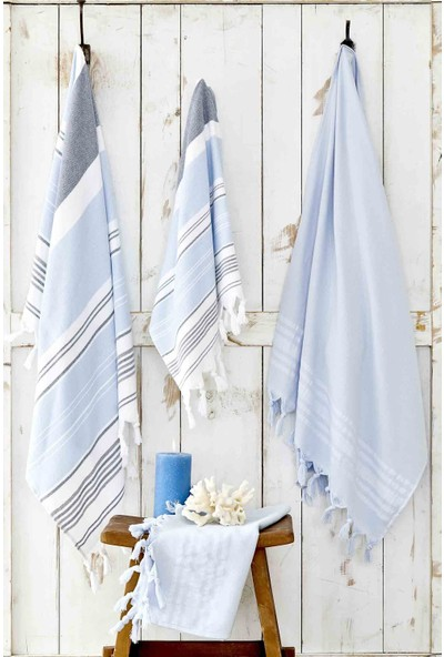 Karaca Home Maroc Mavi-Mavi Peştemal Seti