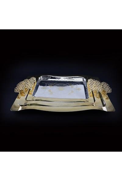 Byblos Glassware Servis Tepsisi