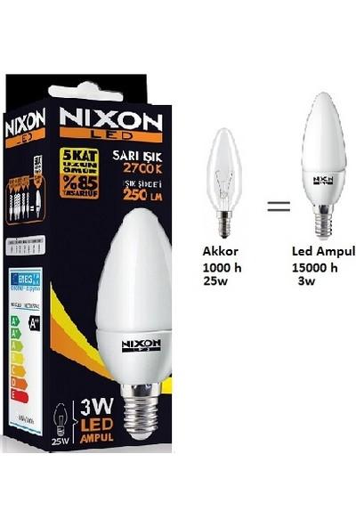 Nixon LED Soft Mum Ampul 3 W 250LM 2700K Sarı E-14 10'lu