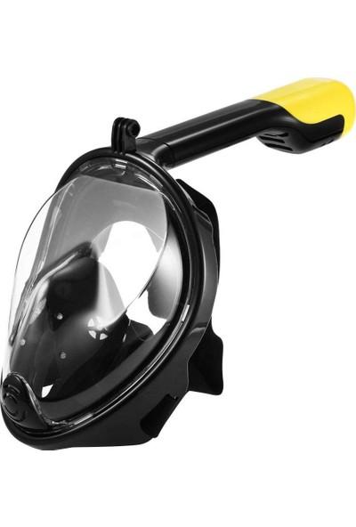 Bestway Smaco M2068G Tam Yüz Şnorkel Dalış Maskesi, 180° Panoramik Görüntüleme Anti-Sis, Anti-Sızıntı