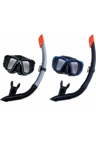 Bestway 24021 Profesyonel Yüzücü Gözlüğü Maske Şnorkel Set