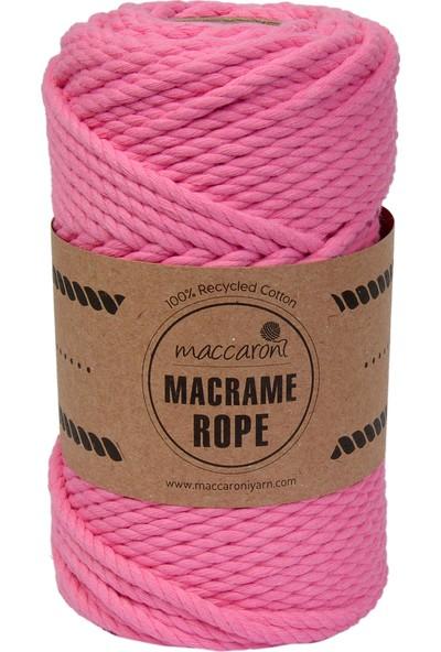 Maccaroni Bükümlü Makrome Hobi İpi 4 mm