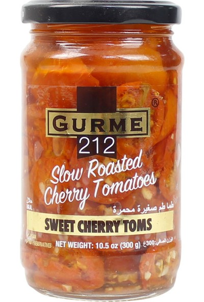 Gurme212 Yarı Kuru Cherry Domates 320 ml