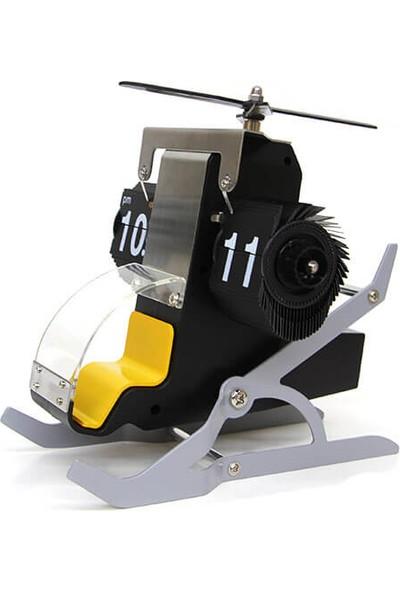 Crownwell Masaüstü Saat Flip Helikopter Modelli