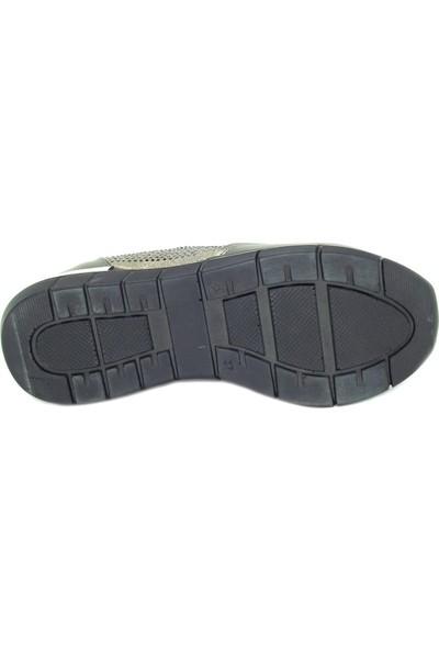Cudo 251211 Siyah Gümüş Taşlı Kadın Sneakers