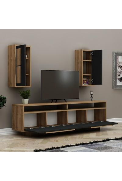 Hepsi Home Capri Tv Ünitesi - Ceviz / Siyah Mermer