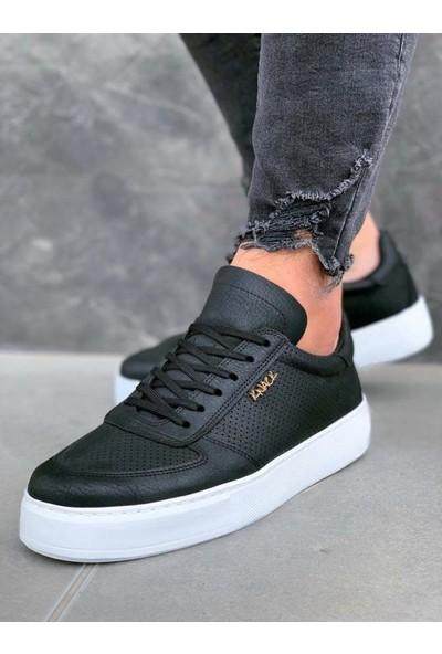 Knack Günlük Ayakkabı 011 Siyah (Beyaz Taban)