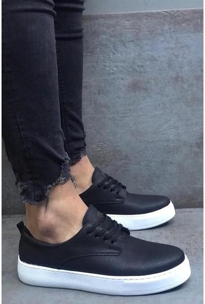 Knack Günlük Ayakkabı 077 Siyah (Beyaz Taban)