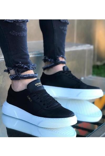 Knack Günlük Ayakkabı 222 Siyah (Beyaz Taban)