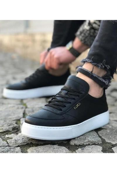 Knack Günlük Ayakkabı 666 Siyah (Beyaz Taban)