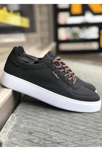 Knack Günlük Ayakkabı Nubuk 666 Siyah (Beyaz Taban)