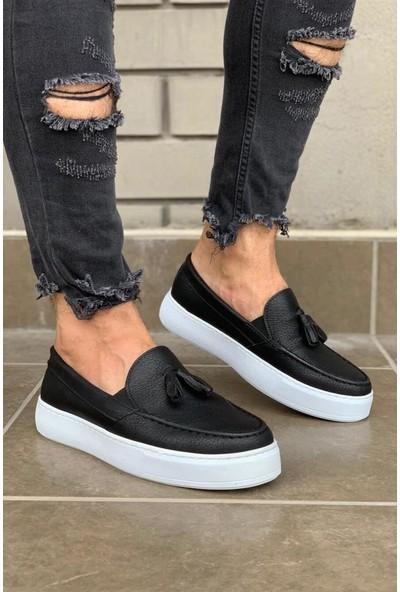 Knack Günlük Spor Klasik Ayakkabı 717 Siyah (Beyaz Taban)