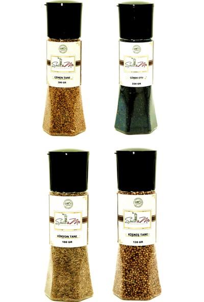 spiceandme Faydalı Ürünler - 3 Lp4 Çemen Tane 280 gr Çörekotu 220 gr Kimyon Tane 180 gr Kişniş Tane 130 gr