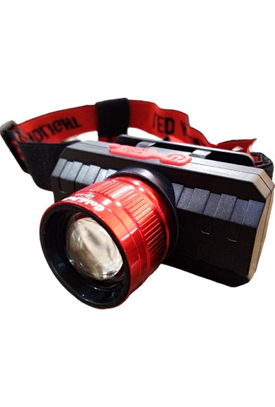 Gaman GP - 319 500 Lümen Cob LED Şarjlı Kafa Lambası Şarjlı Kafa Feneri Zoomlu