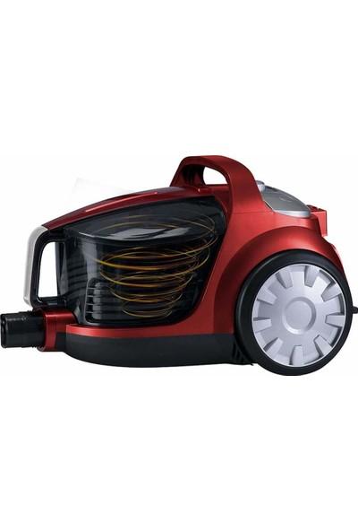Goldmaster GM-7584 Platon Toz Torbasız Elektrikli Süpürge Kırmızı