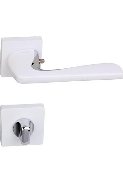 Ventus Kapı Kolu Wc Tipi Krom - Beyaz Metal