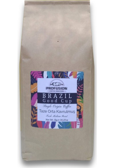 Profusion Coffee Taze Kavrulmuş Brazil (Brezilya) Good Cup Jaguar Kahve 1 kg Çekirdek (Öğütülmemiş)