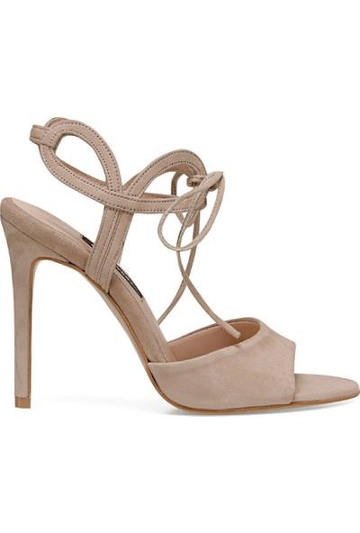 Nine West Trone Bej Kadın Topuklu Sandalet