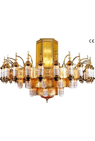 Üstün Avize Medine Model Dekoratif 42 Kollu Cami Avizesi 250 cm