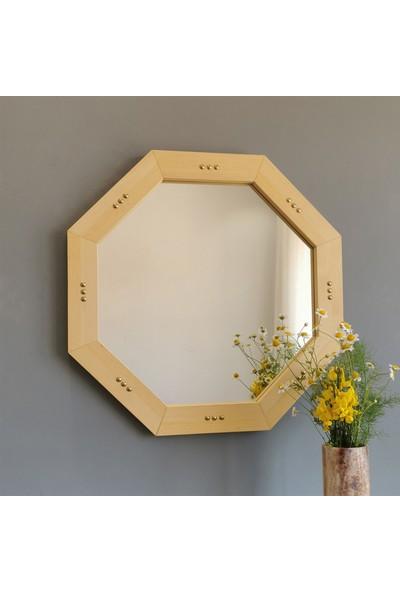 Neo Still Ahşap ve Pirinç Dekoratif Ayna SA608