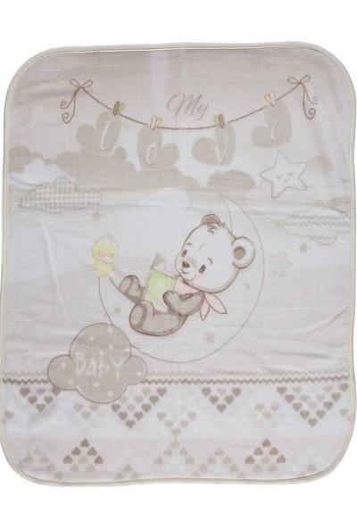 Donino Baby Baskılı Battaniye Kahverengi 100 x 80 cm