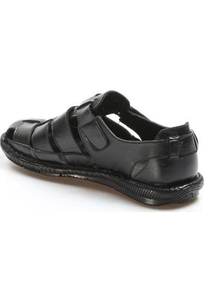 Fast Step Deri Erkek Klasik Sandalet 927MA021