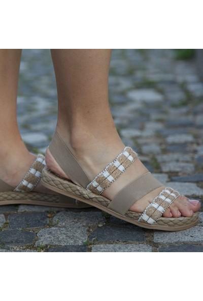 Conforcity Kadın Bej Jut Sandalet