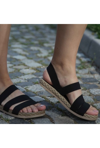 Conforcity Kadın Siyah Sandalet