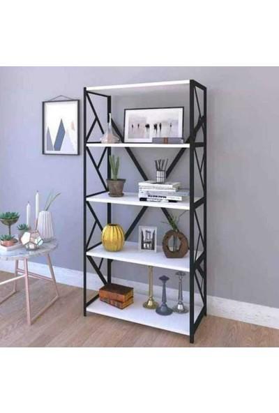 Mavera Home 5 Raflı Kitaplık 36 x 160 x 70 cm