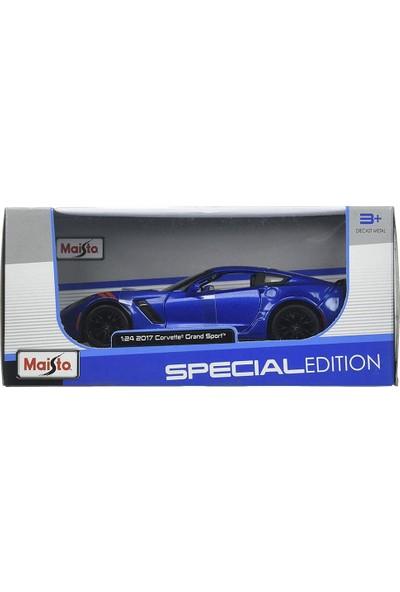 Maisto 2017 Corvette Grand Sport 1:24 Model Araba Mavi