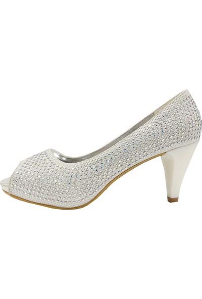 Jena 31118 Topuklu Taşlı Abiye Kadın Ayakkabı