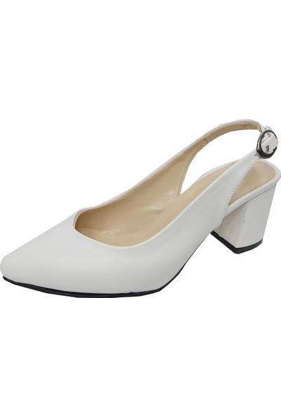Buket 5520 Deri Arka Açık Kadın Ayakkabı