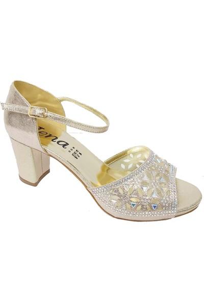 Jena 9350 Abiye Taşlı Trend Kadın Ayakkabı