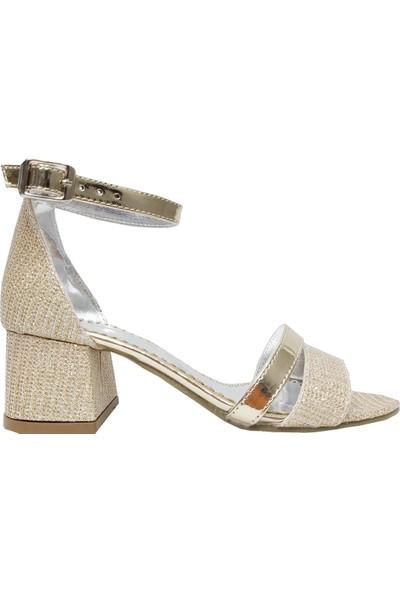 Jena 5001 Topuklu Abiye Kadın Sandalet