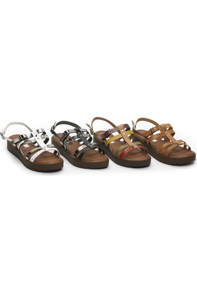 Charmia Kadın Deri Günlük Sandalet 3111