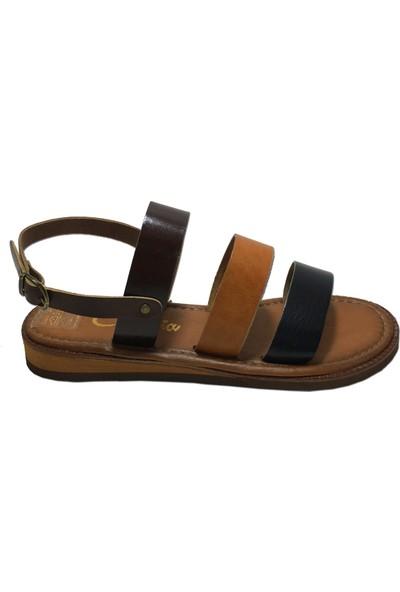 Charmia Kadın Deri Günlük Sandalet 142