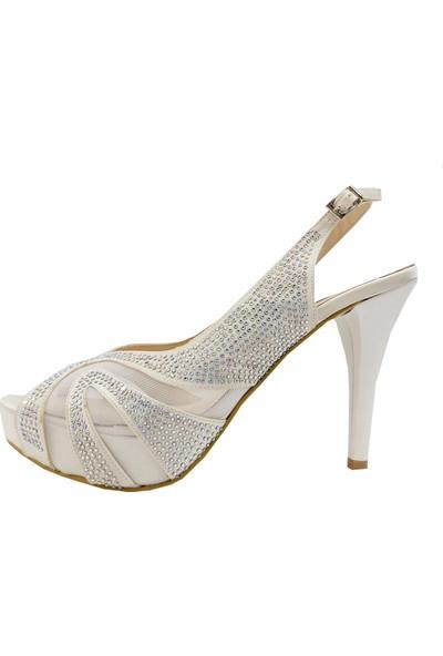 Marco Ferretti 409 Abiye Platform Topuklu Sandalet