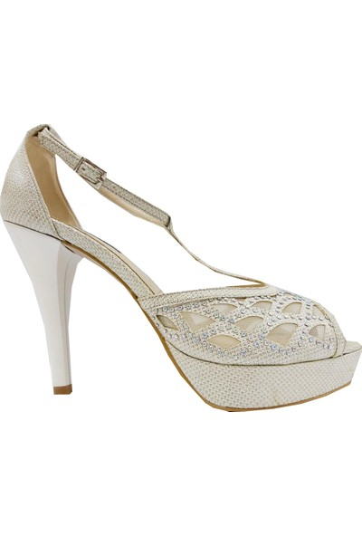 Marco Ferretti 398 Abiye Platform Topuklu Sandalet