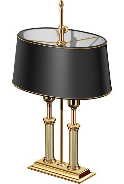Elcasco 665-L Masaüstü Şapkalı Lamba Gold