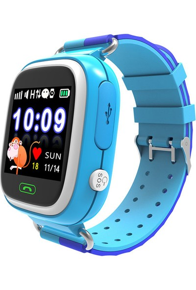 Smartbell Q90/2019 Sim Kartlı Akıllı Çocuk Saati - Mavi