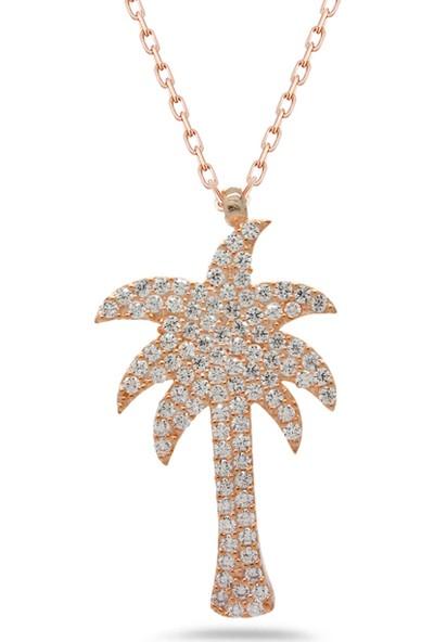 Else Silver Palmiye Ağaç Gümüş Kolye