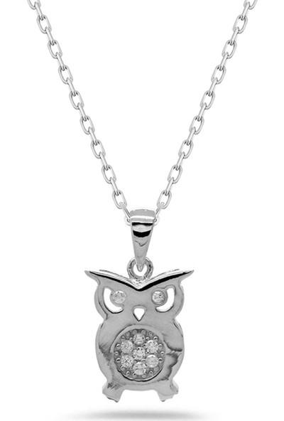 Else Silver Tiny Baykuş Gümüş Kolye