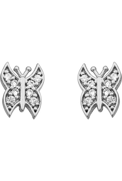 Else Silver Kelebek Gümüş Küpe