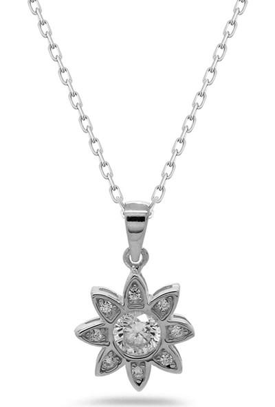 Else Silver Tiny Çiçek Model Gümüş Kolye