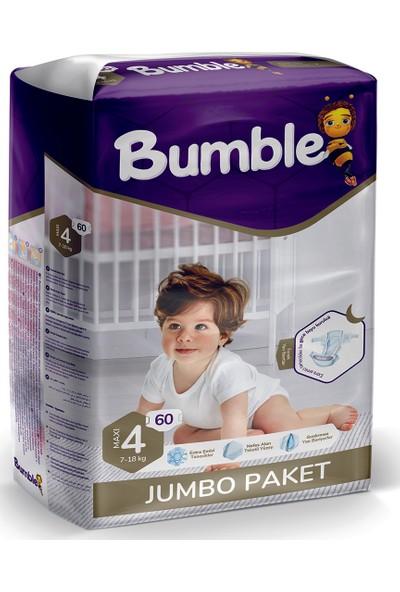 Bumble Bebek Bezi 4 Numara Maxi Jumbo Paket 60'lı