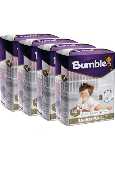Bumble Bebek Bezi 4 Numara Maxi 4'lü Paket 60 x 4 = 240'LI